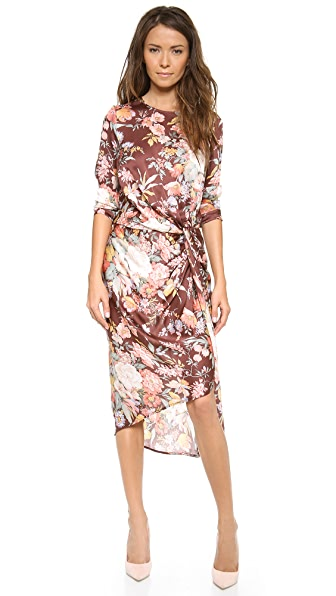 Zimmermann Tamer Twist Knot Drape Dress