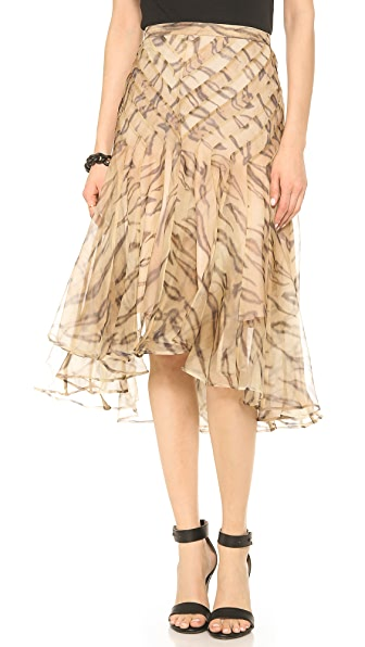 Zimmermann Tamer Tiger Chevron Skirt