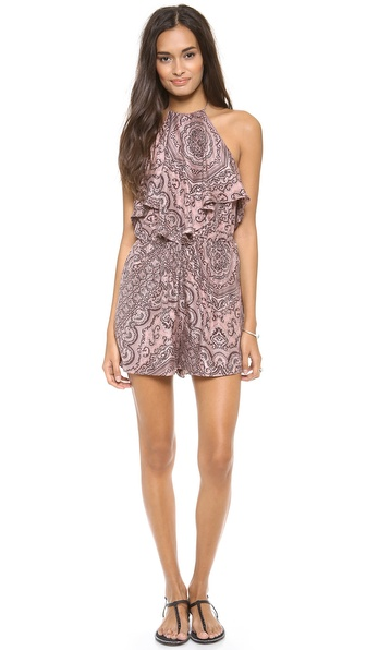 Zimmermann Writer Scarf Halter Playsuit