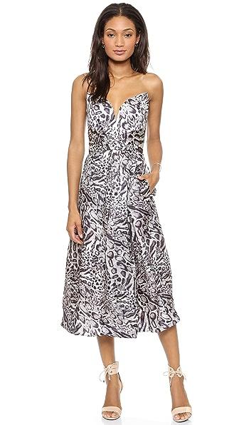 Zimmermann Racer Leopard Plunge Dress