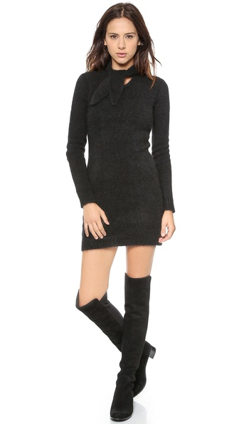 Kupi Zimmermann haljinu online i raspordaja za kupiti Zimmermann Racer Floss Knit Mini Dress Black online