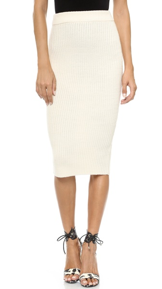 Zimmermann Tempo Rib Knit Skirt