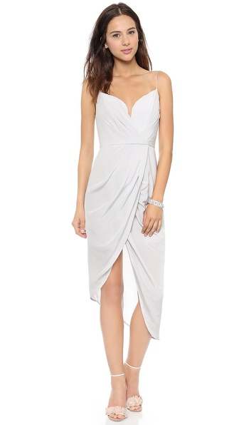 Zimmermann Silk Plunge Draped Dress