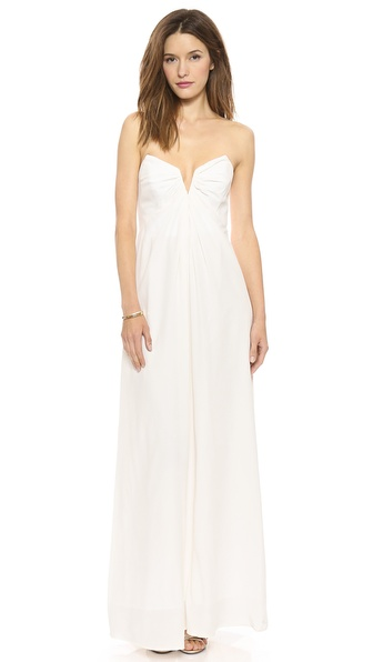 Zimmermann Silk V Maxi Dress