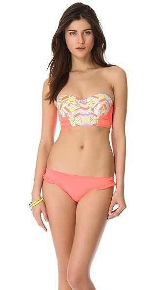 Zinke Strapless Chevron Bikini Top