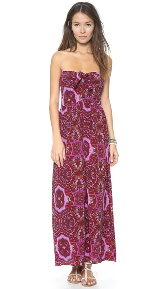 Shop Zinke online and buy Zinke Zoe Cover Up Dress Rio Print - Vivid paisley lends exotic color to this silk Zinke maxi dress. Self tie strings attach to the V neck shoulder straps and loop into the smocked elastic back. Unlined. Fabric: Plain weave silk. 100% silk. Dry clean. Made in the USA. MEASUREMENTS Length: 57in / 145cm, from shoulder. Available sizes: L,M,S
