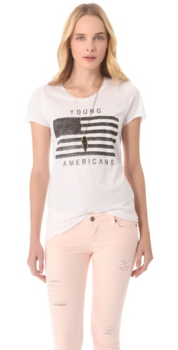Shop Zoe Karssen Young Americans Tee and Zoe Karssen online - Apparel,Womens,Tops,Tees,Short_Sleeve, online Store