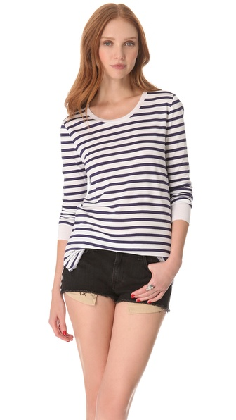 Zoe Karssen Ribbon Stripe Tee