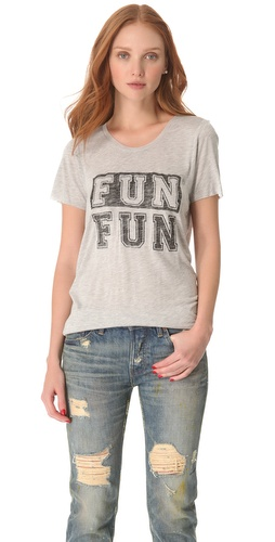 Shop Zoe Karssen Fun Fun Tee and Zoe Karssen online - Apparel,Womens,Tops,Tees,Short_Sleeve, online Store
