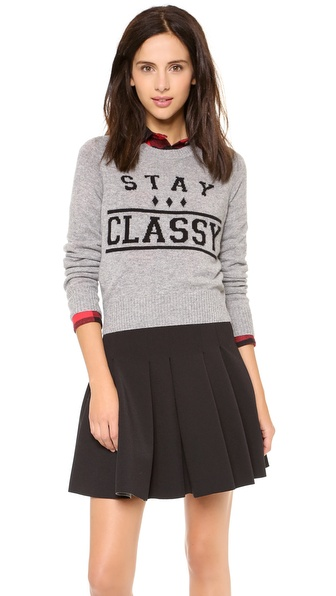 Zoe Karssen Stay Classy Cropped Cashmere Sweater
