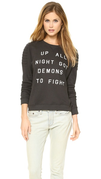 Zoe Karssen Up All Night Long Sleeve Top