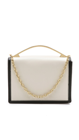 ZAC Zac Posen Loren Top Handle Clutch With Chain