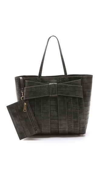 ZAC Zac Posen Shirley Bow Croco Shopper
