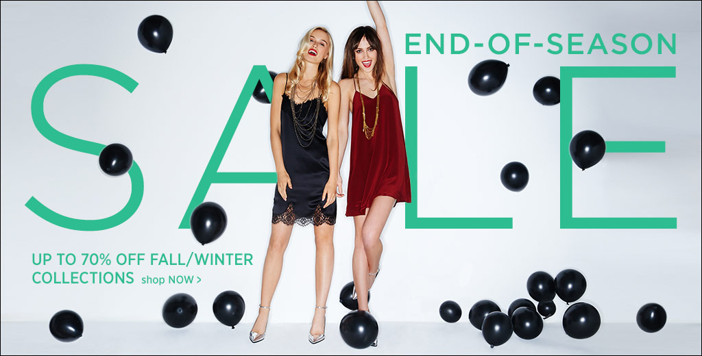 End-Of-Season Sale Up to 70% OFF Fall/Winter Collections + Free International Shipping On Order Over 100$  at Shopbop.com