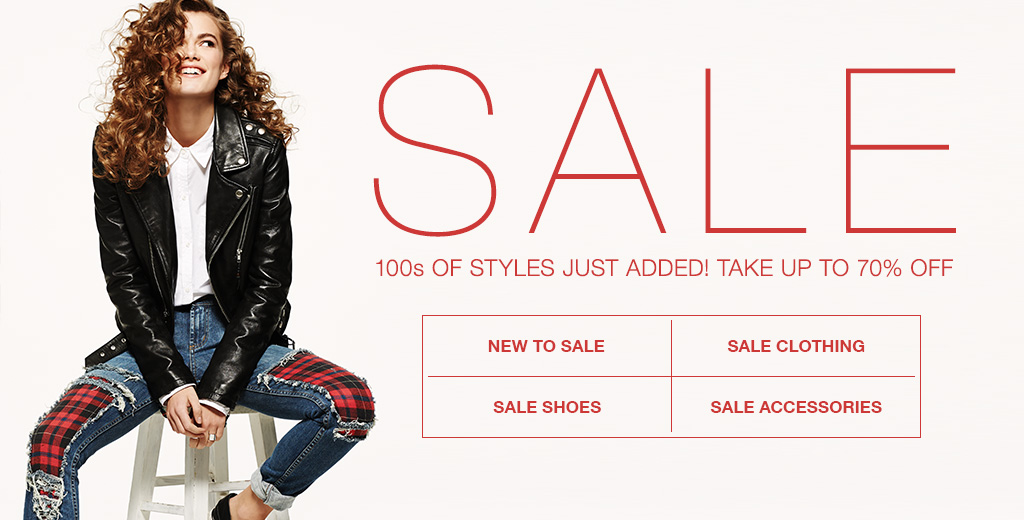 Save up to 70% off 100s of new styles just added + free express shipping to Australia and free international shipping on order 100$ or more  at Shopbop.com