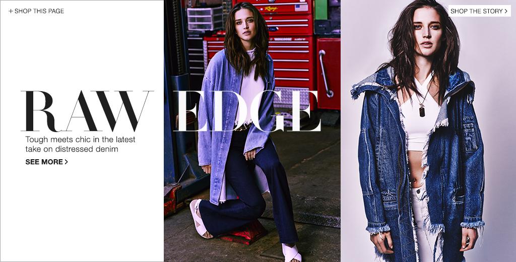 Distressed Denim Jeans Trend: Raw Edge