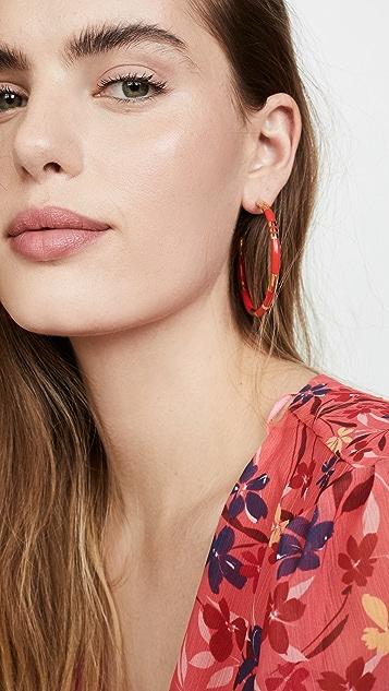 Aurelie Bidermann Positano 珊瑚圈式耳环