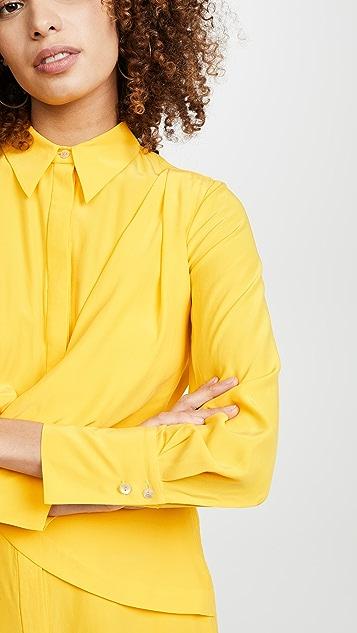 Acler Alma 真丝衬衣式连衣裙