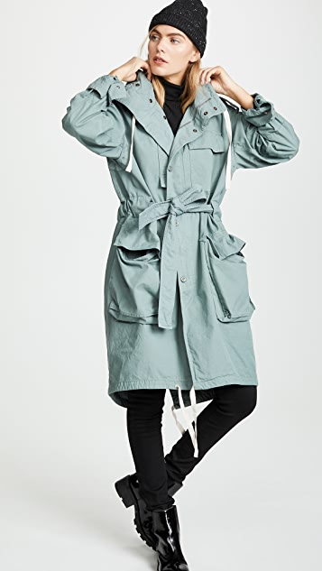Acne Studios Oline 染色斜纹布大衣