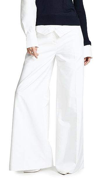 Adeam 双重裤腰长裤