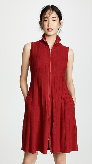 Adeam 罗纹拉链连衣裙