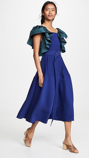 Adeam 裥褶降落伞式连衣裙