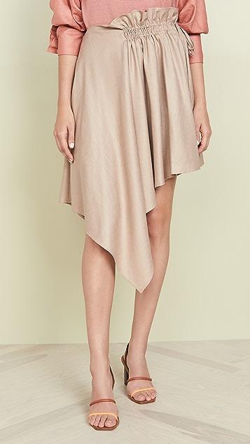 Adeam 抽皱围巾式半身裙