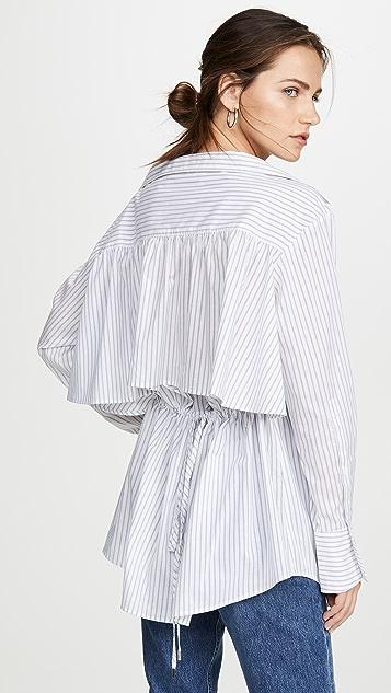 Adeam Ruched Parachute 衬衫