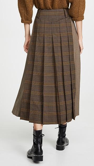 Adeam 职业装裥褶半身裙