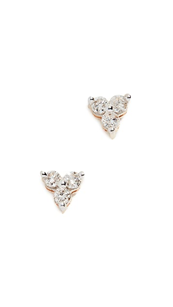 Adina Reyter 14K 金钻石簇状耳环