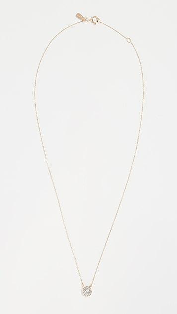 Adina Reyter 14K 金纯色密镶圆片项链