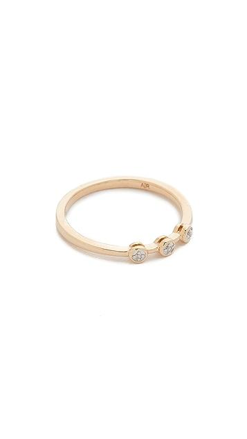 Adina Reyter 14K 金 3 钻石戒指