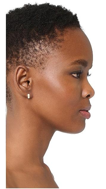 Adina Reyter 14K 金贴耳式圈式宽耳环