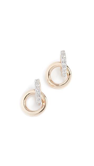 Adina Reyter 14K 钻石联锁圈式耳针