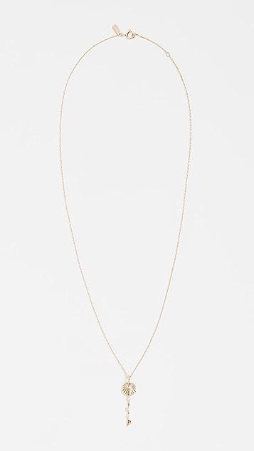 Adina Reyter 14k 小号六角形钥匙项链