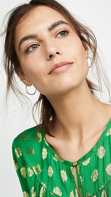 Adina Reyter 14k 中号交叉圈式耳环