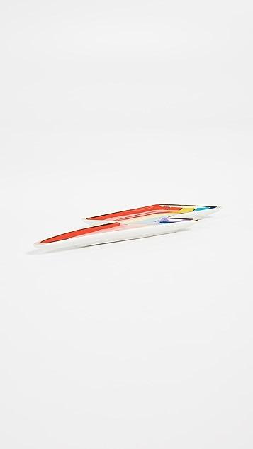 Jonathan Adler 彩色闪电形托盘