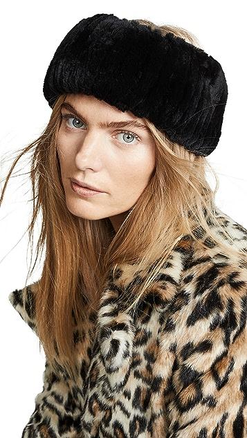 Adrienne Landau 针织獭兔毛发带