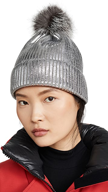 Adrienne Landau 腈纶金属色帽子