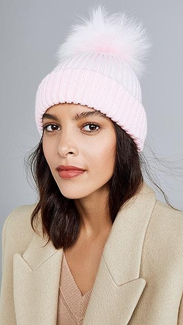 Adrienne Landau 腈纶针织帽子