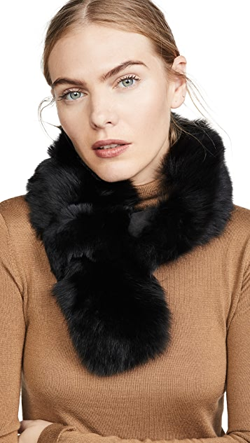 Adrienne Landau 狐狸和獭兔长款围巾