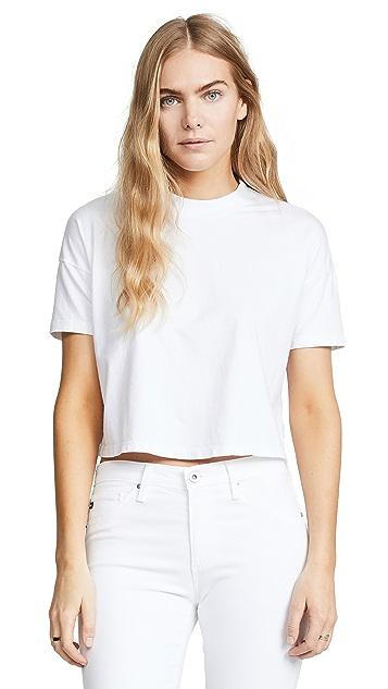 AG Drew 落肩短款 T 恤