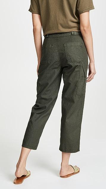 AG Noten 高腰九分五口袋工装牛仔裤