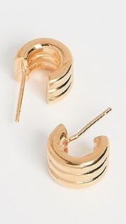 AGMES 迷你三棱纹圈式耳环