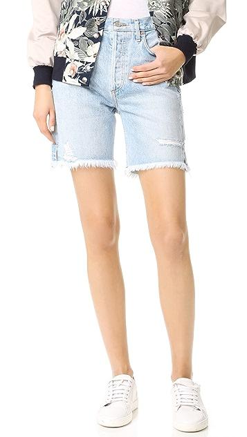 AGOLDE Jamie 高腰经典修身短裤