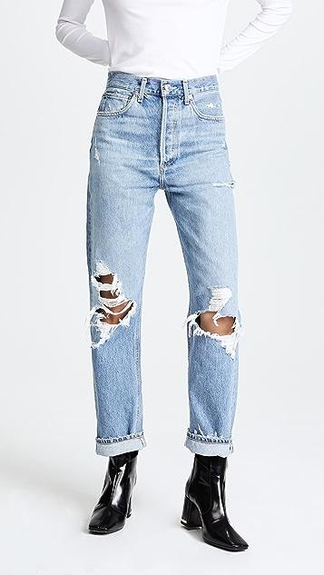AGOLDE 90 年代款式中腰宽松版牛仔裤