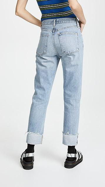 AGOLDE Cherie 高腰翻边牛仔裤