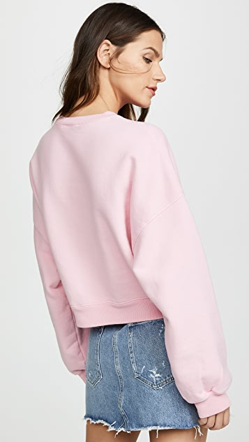 AGOLDE 灯笼袖裁短设计运动衫