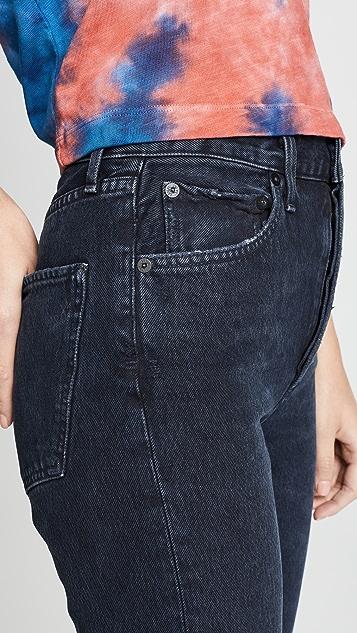 AGOLDE Riley 高腰直脚九分牛仔裤