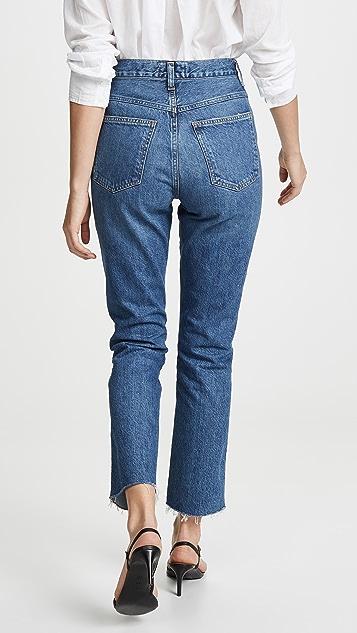AGOLDE 收腰高腰微喇牛仔裤